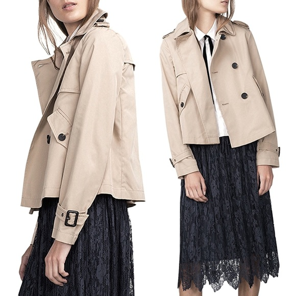 fairlygirly Jackets & Blazers - SOLD OUT Double Breasted Short Swing Trench Coat